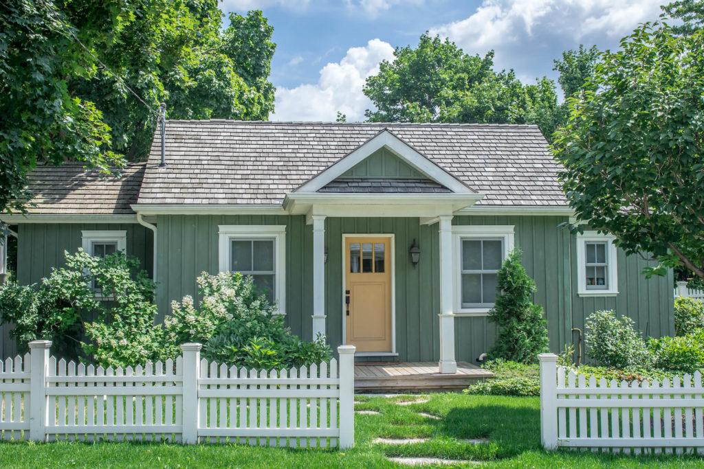 แบบบ้านโทนสีเขียว