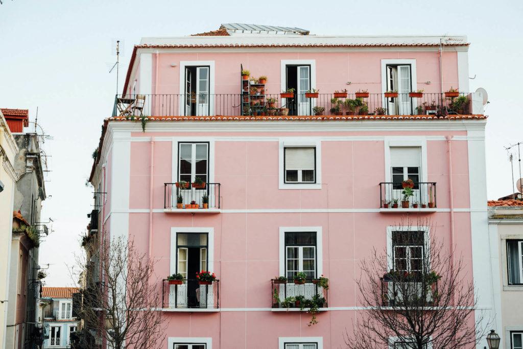 แบบบ้านโทนสีชมพู