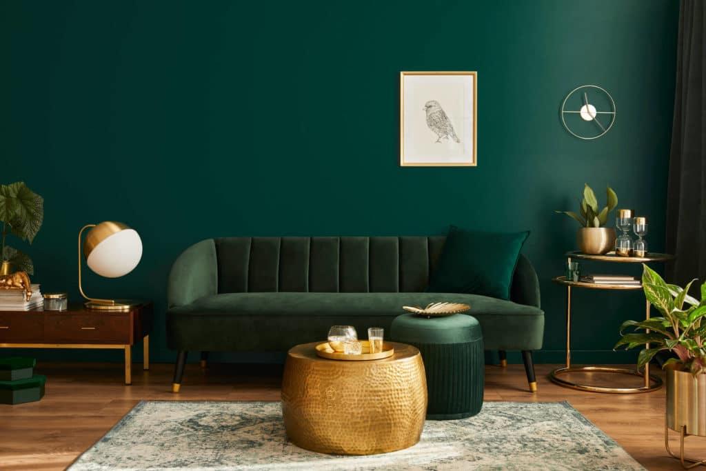 สีทาภายในบ้าน สีเขียวเข้ม (Sacramento)